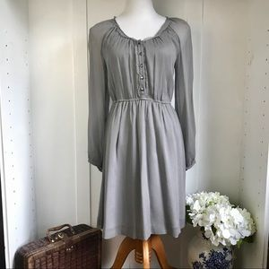 J Crew Silk Maisie Dress Gray | Lined